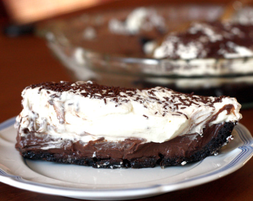 Bittersweet Chocolate Pudding Pie With Creme Fraiiche Recipes ...