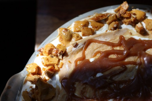 The Divine Peanut Brittle and Caramel Crunch Ice Cream Pie | Explore ...