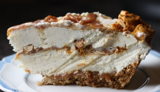 Peanut Brittle and Caramel Crunch Ice Cream Pie | Dana Treat – Treat ...